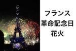フランスの革命記念日(7/14)の花火はすごかった